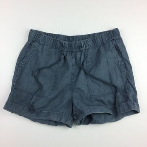 Cloth & Stone drawstring cuffed tencell shorts
